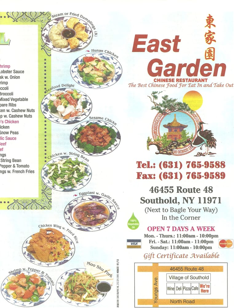 East Garden Chinese Restaurant Cucina Cinese 46455 County Rt 48 Southold Ny Stati Uniti