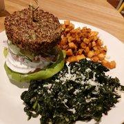 True Food Kitchen Burger inside out quinoa burger - menu - true food kitchen - fairfax