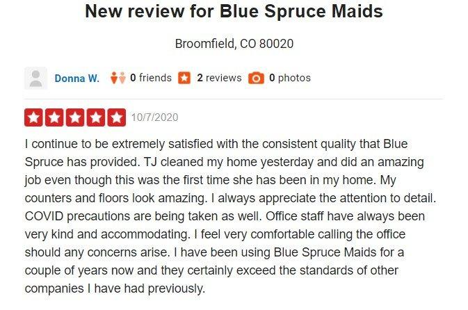 Blue Spruce Maids: Broomfield, CO