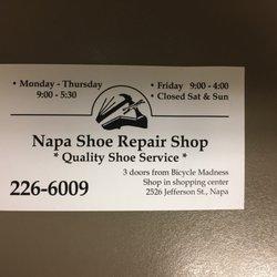 Napa shoe repair 14 reviews shoe repair 2526 jefferson st photo of napa shoe repair napa ca united states business card as reheart Choice Image