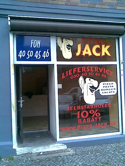 pizza jack pizza knaackstr 97 prenzlauer berg berlin beitr ge zu restaurants. Black Bedroom Furniture Sets. Home Design Ideas