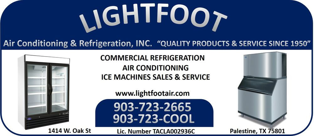Lightfoot Air Conditioning & Refrigeration: 1414 W Oak St, Palestine, TX