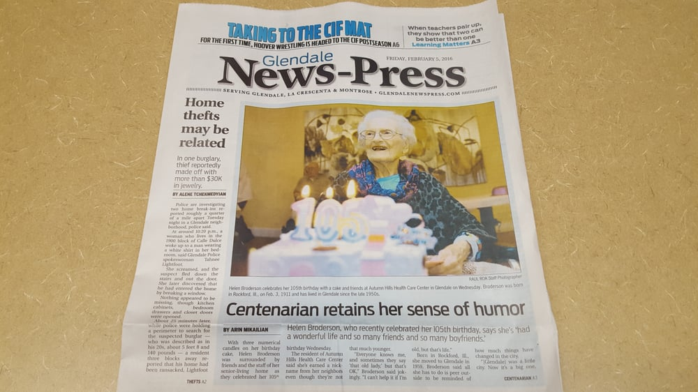 This nursing home made it into the local newspaper! - Yelp