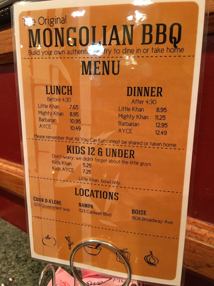 Mongolian Bbq 44 Anmeldelser Grill 1808 Broadway Ave Boise Id Usa