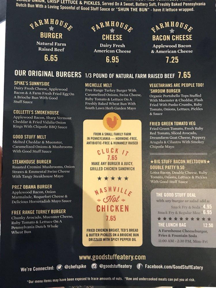 recipe: good stuff eatery menu [25]