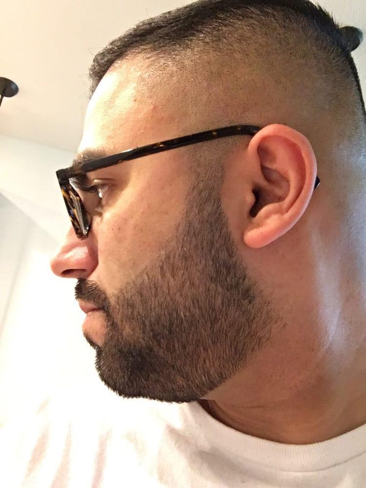 da9c6a62e75 Did it exactly how I like. No shape up on top. Kept beard large ...