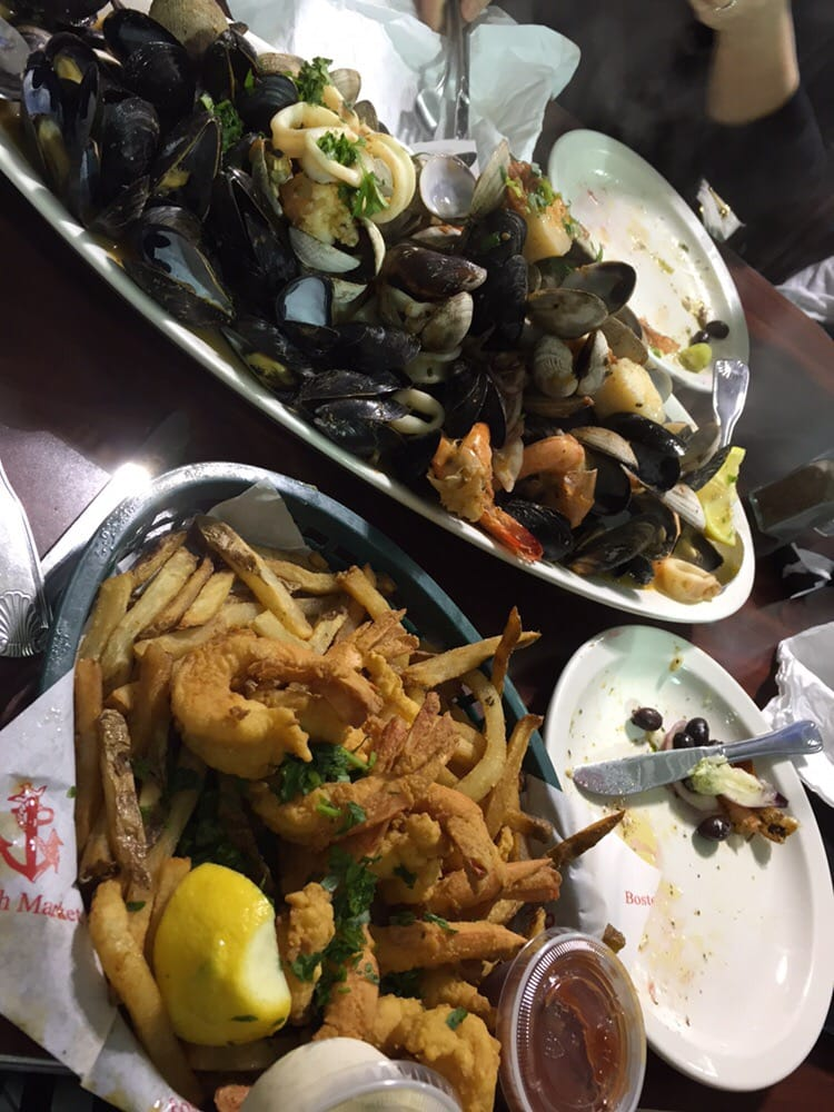 Zuppe mussels and fried shrimp yelp for Boston fish market