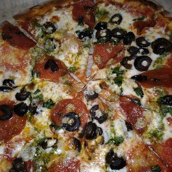 P O Of Blast 825 Pizza Roseville Ca United States Pepperoni Black Olives