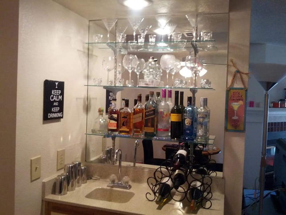 I absolutely love my wet bar inside my apartment! - Yelp