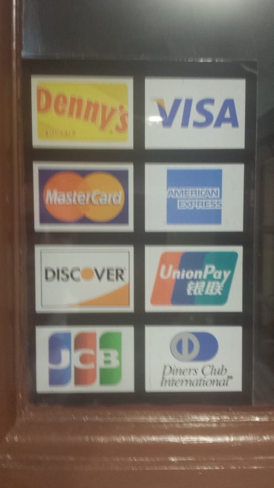 Many cards are accepted: Denny's | Visa MasterCard | American ...