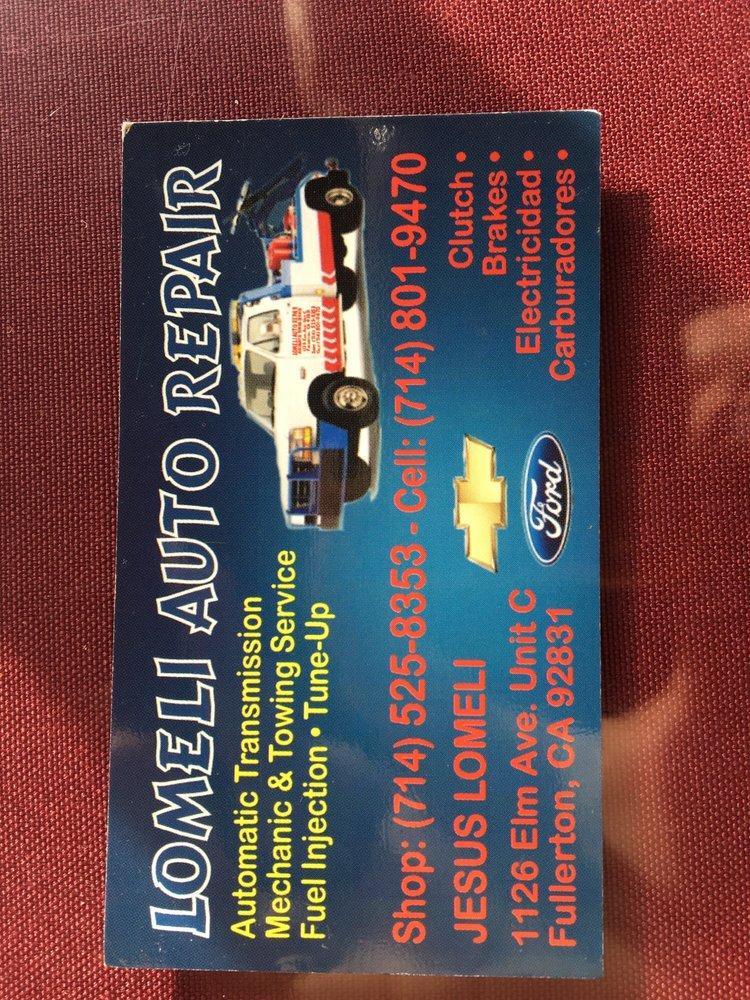 Auto Window Repair Near Me >> Lomeli Auto Repair - Automotive - 1126 East Elm Ave ...