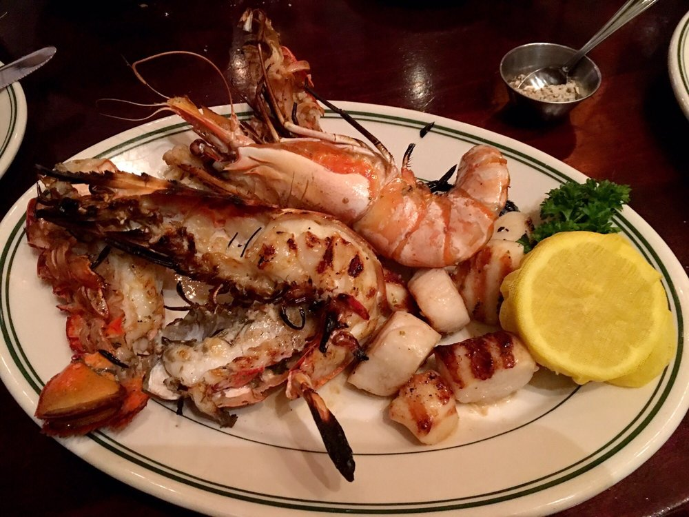 Grilled Seafood Plate - Madagascar Shrimp, Lobster Tail ...