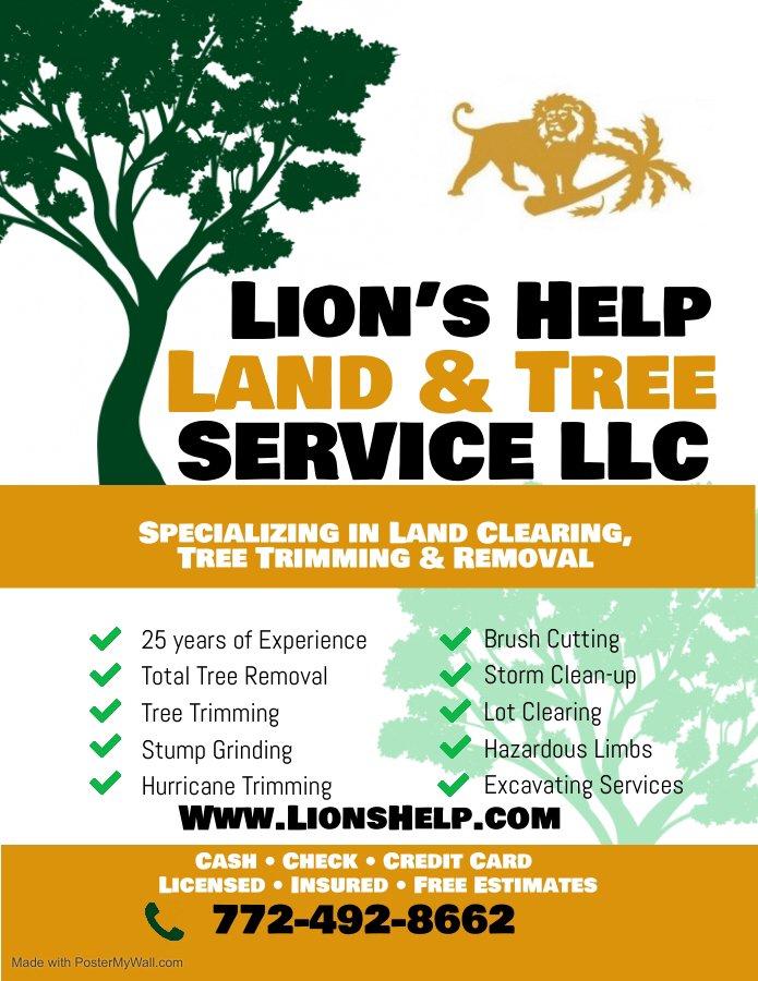 Lion's Help Land and Tree Service: 131 S 19th Cir SW, Vero Beach, FL