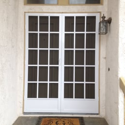 Front french swinging door screen doors with solar for Do french doors have screens
