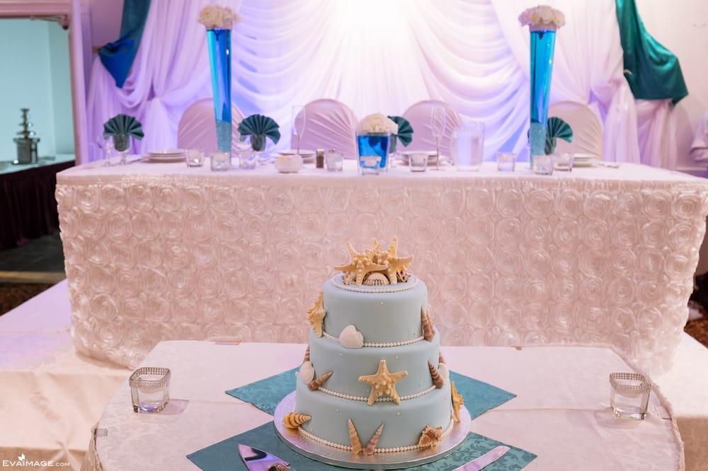Marine Themed Cake At May 2015 Wedding Reception At Maple Banquet