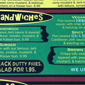 Reggae shack cafe gainesville menu