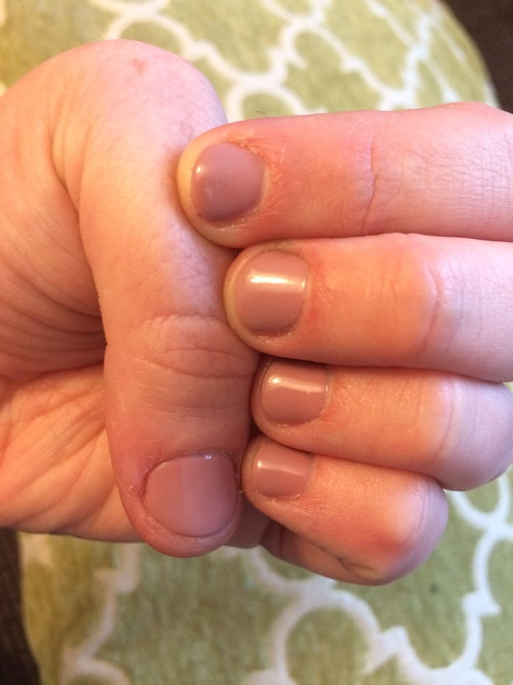 Basic gel manicure on my super short nails - Yelp