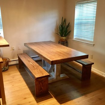 Photo of Modern Rust   Alexandria  VA  United States  6  trestle table. Modern Rust   17 Photos   26 Reviews   Furniture Assembly