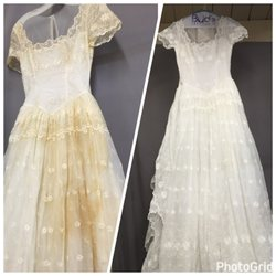 Dry clean wedding dress cheap