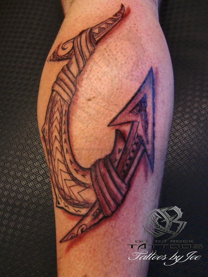 Maori Fish Hook Tattoo Designs