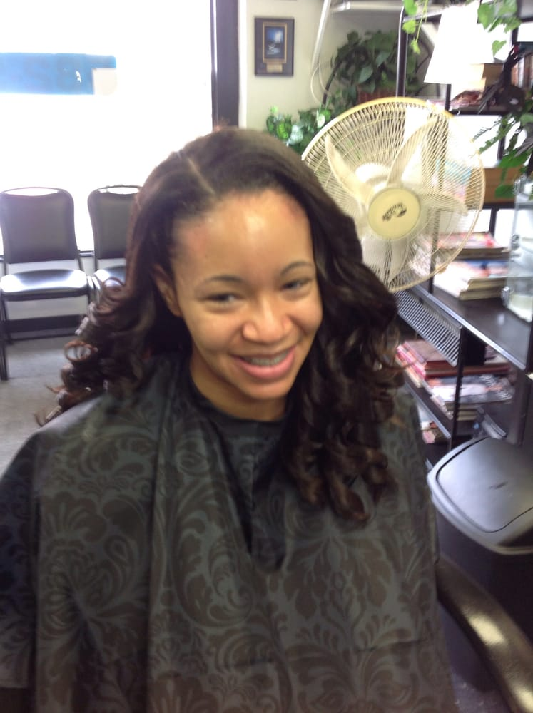 Full Weave With Shirley Temple Curls Stylist Drusil Yelp