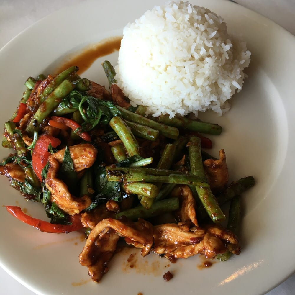 Pad kra pow yelp for Anothai cuisine cypress
