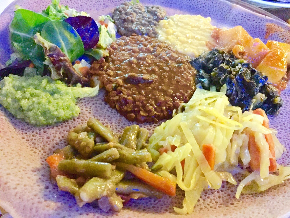 The veggie platter yelp for Abol ethiopian cuisine silver spring md