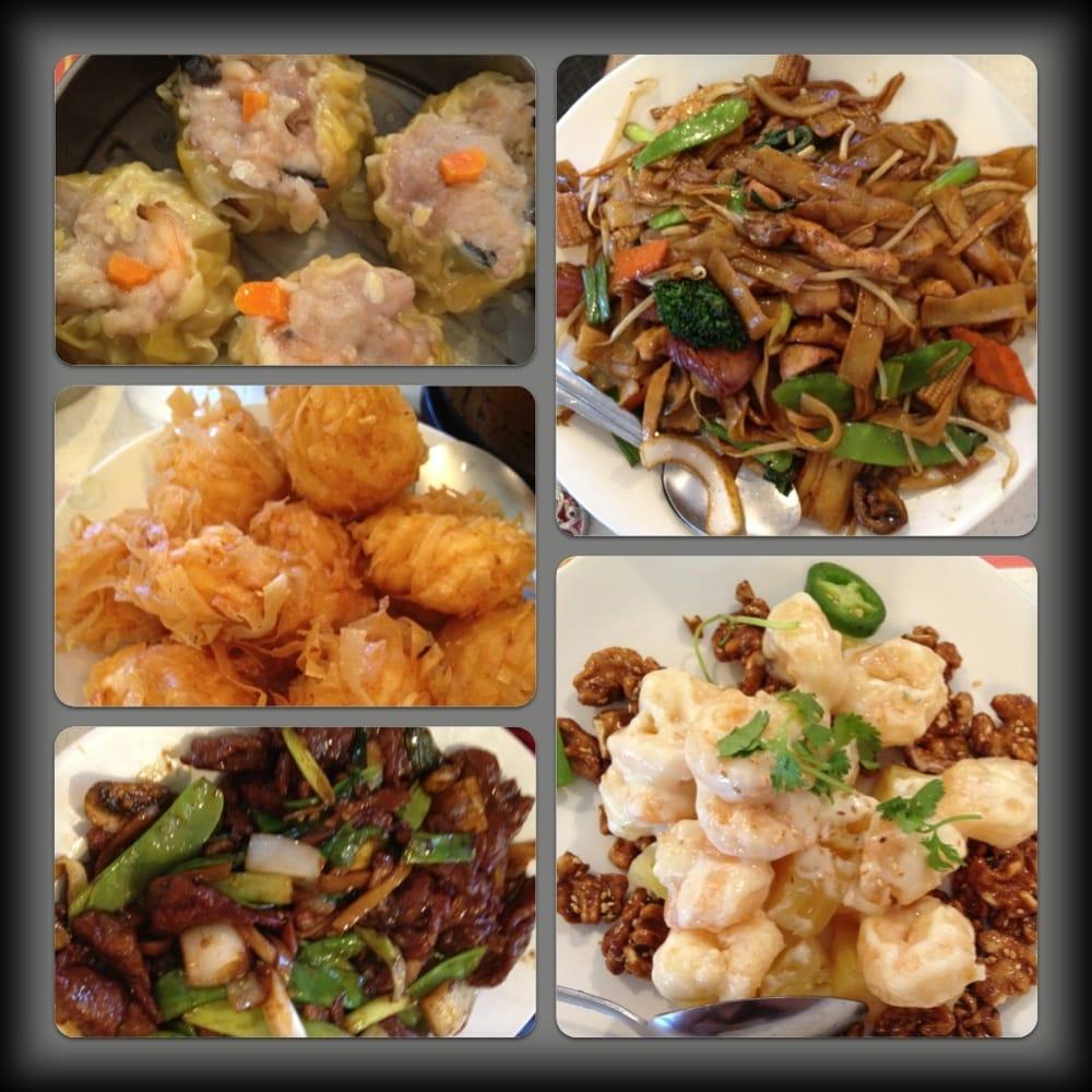Shiu mai, shrimp balls, mongolian beef, imperial chow fun, and ...