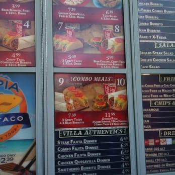 Taco Villa Menu And Prices