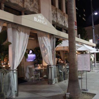 Villa Blanca Restaurant Menu Beverly Hills Ca