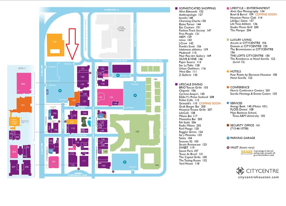 City Center Houston Tx Map