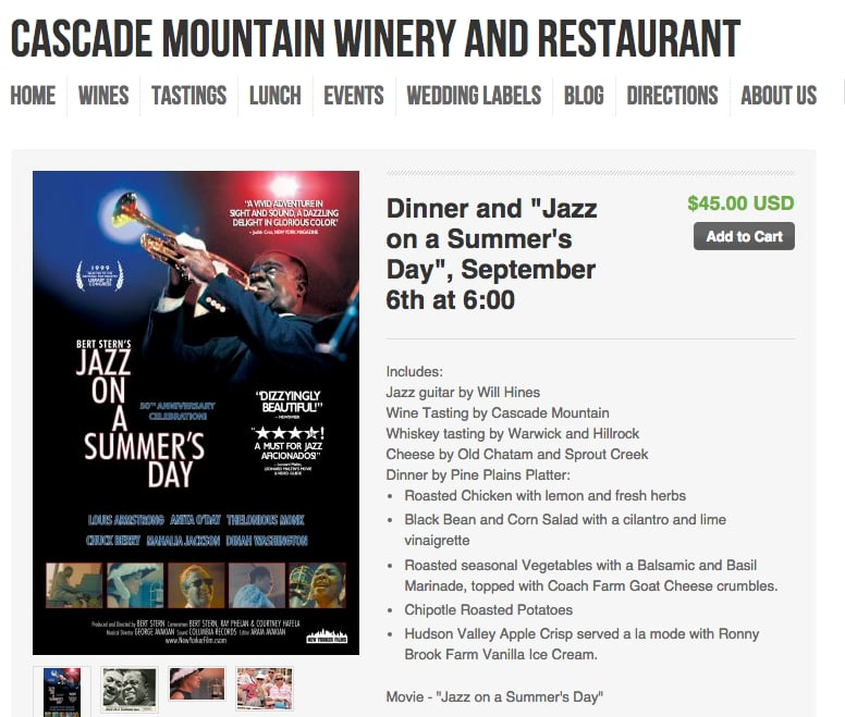 Cascade Mountain Winery & Restaurant: 835 Cascade Mountain Rd, Amenia, NY