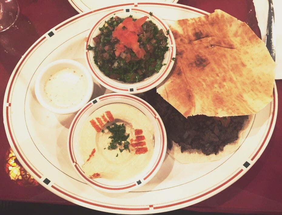 Beef shawarma plate with tabbouleh instead of veggies yelp for Ali baba cuisine