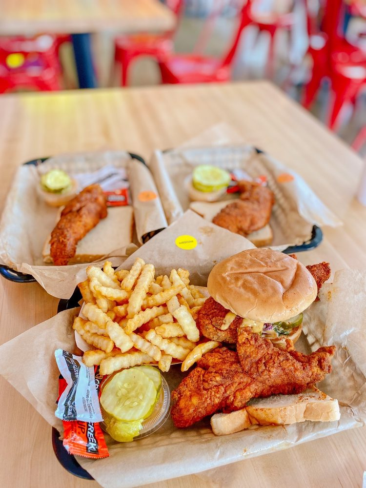 Food from Dave's Hot Chicken
