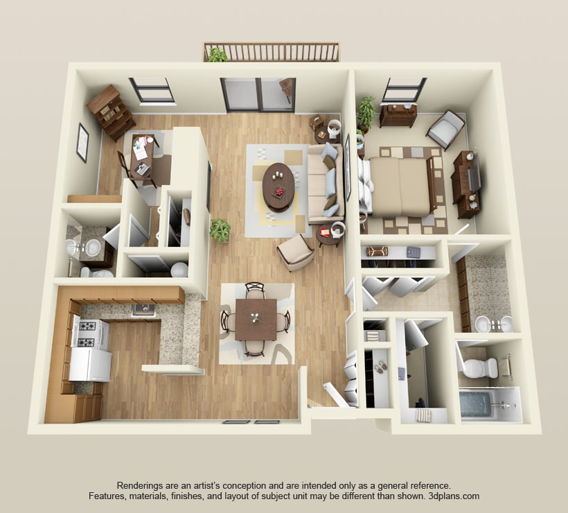 Barrington Apartments: One W/den