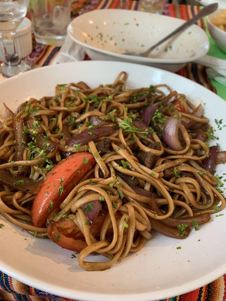 Food from La Casita Peruvian Resturant