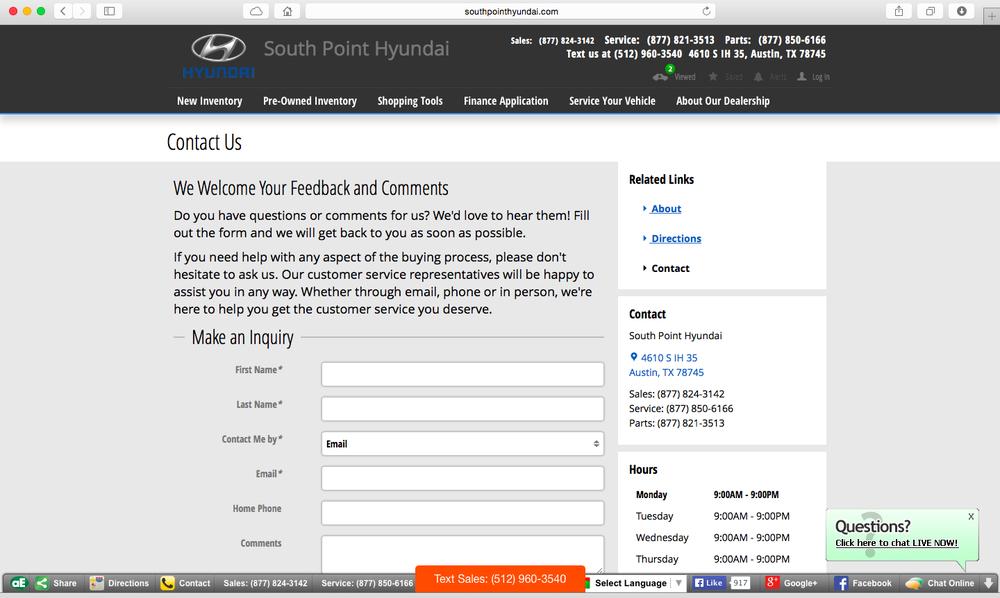South Point Hyundai 17 Photos 119 Reviews Car Dealers 4610 Ih 35 S Battlebend Springs