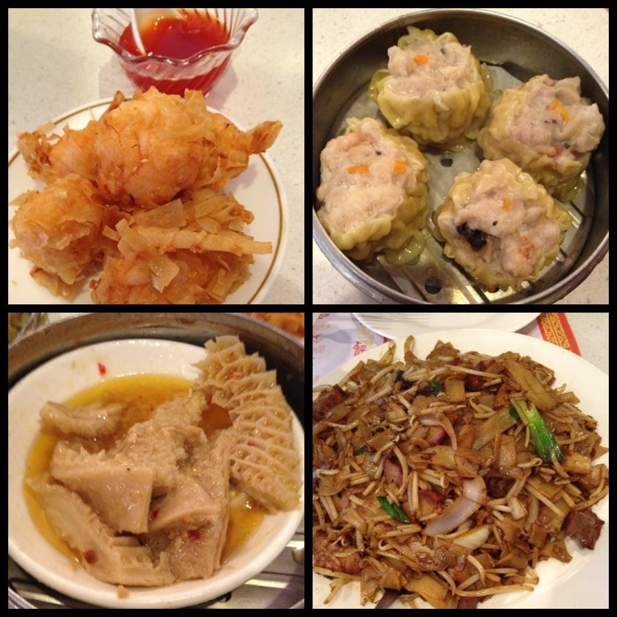 Shrimp balls, siumai, tripe, and pork chow fun - Yelp