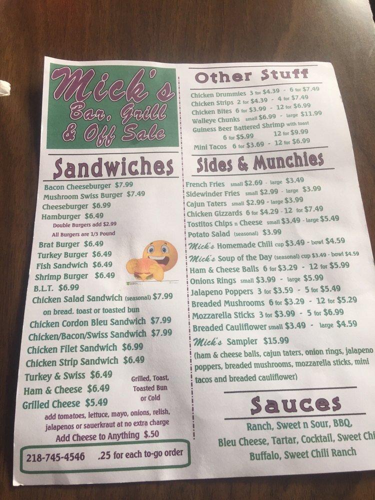 Mick's of Warren: 205 E Nelson Ave, Warren, MN