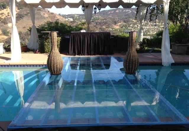 Plexi Glass See Through Bridge Over Swimming Pool Rental