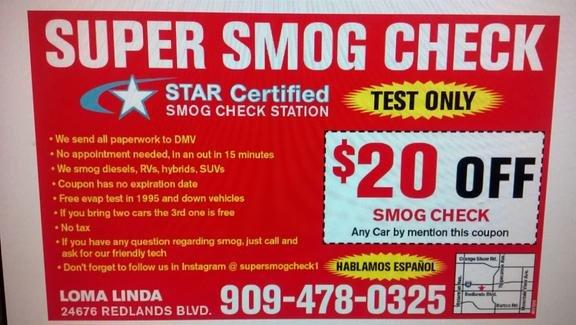 Super Smog 24676 Redlands Blvd Loma Linda Ca Automobile Smog