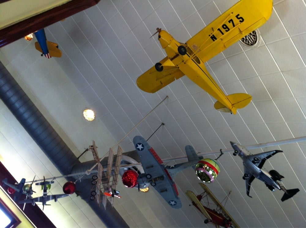 Photo Of Can Restaurant Barrington Il United States Model Airplanes Hanging From