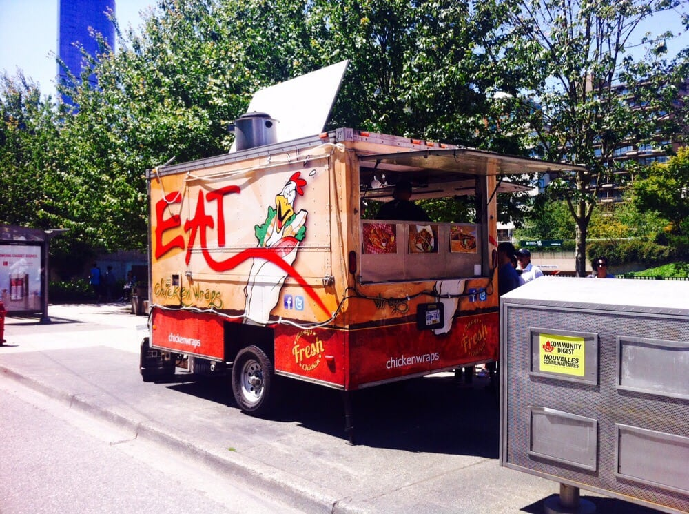 Eat Chicken Wraps Food Truck Near The Vancouver Court House On