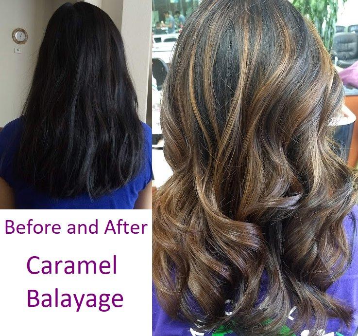 Caramel Balayage Hair On Black Hair Hair Coloring