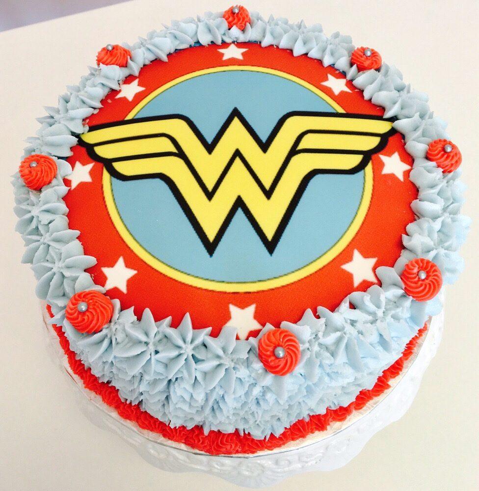Wonder-Woman Logo Cake - Yelp
