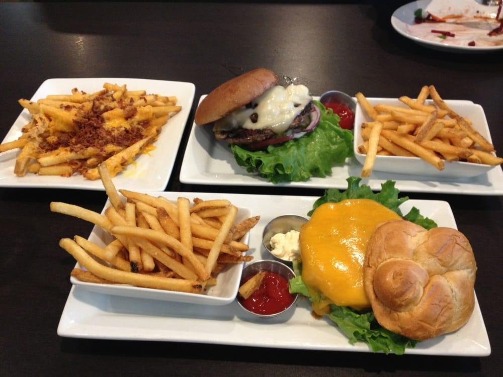 Alpine Swiss Burger Top And Triple Prime Cheddar Burger