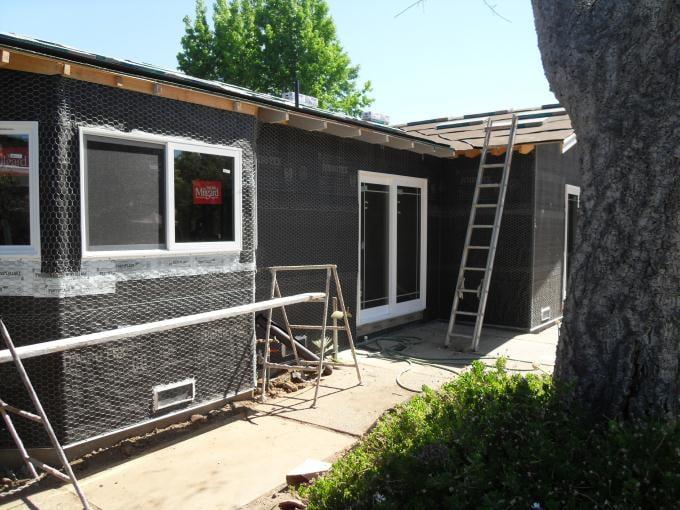 Backyard, Room Addition, Bay Window, Window Installation, Framing ...