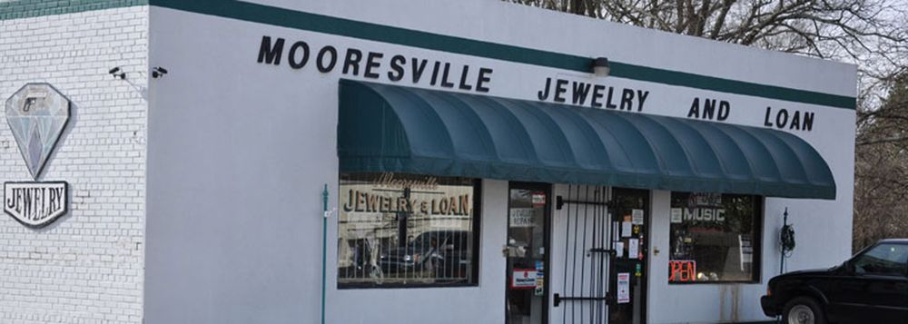 mooresville jewelry loan pawn shop store front in