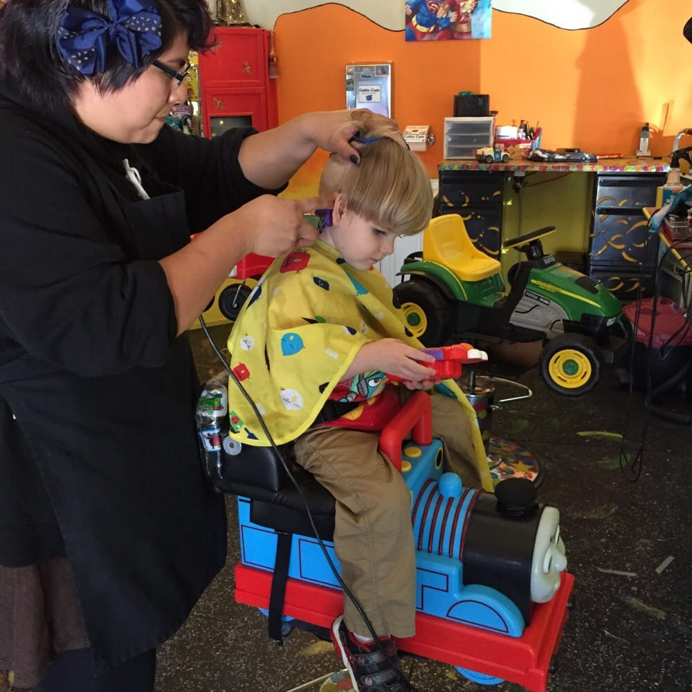 My Little Guy Getting His Hair Cut Yelp