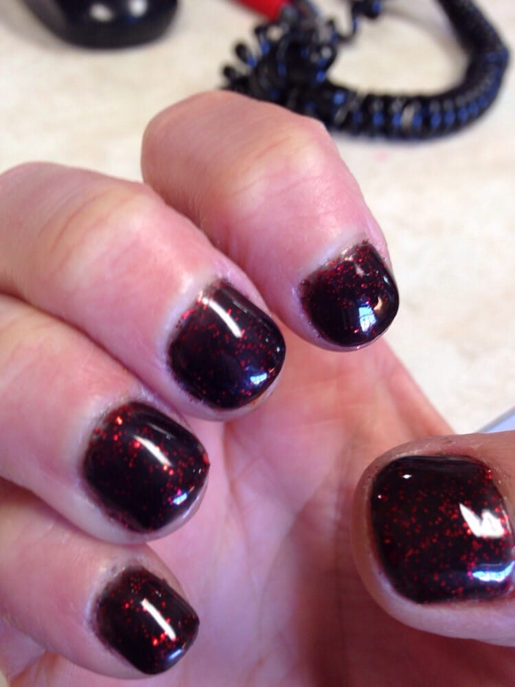 Perfect nails. My own natural long nails with gel polish in Marilyn ...